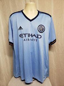 Adidas MLS New York City Football Club Etihad Airways Adult Blue ...