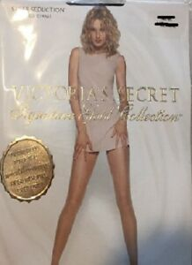 2-Victoria-039-s-Secret-Signature-Gold-Pebble-Medium-Sheer-Seduction-Pantyhose