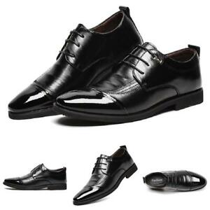 Details about  /Mens Dress Formal Leather Shoes Business Pointy Toe Work Wedding Oxfords Casual