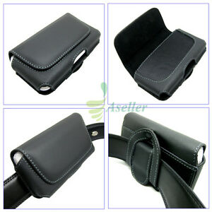 Compact-Flip-Horizontal-Leather-Belt-Clip-Loop-Holster-Case-Pouch-Cover-SKin-S3