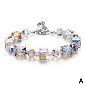 Kristall-Stretch-Armband-Frauen-Einstellbare-Perlen-Armreif-Luxus-Geschenk-Heiss