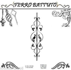 Brave Pannelli Paletti Fogliati Ferro Battuto X Scala Ringhiere Cancello H 90cm L 25cm Meticulous Dyeing Processes Home & Garden Other Tools & Workshop Equipment