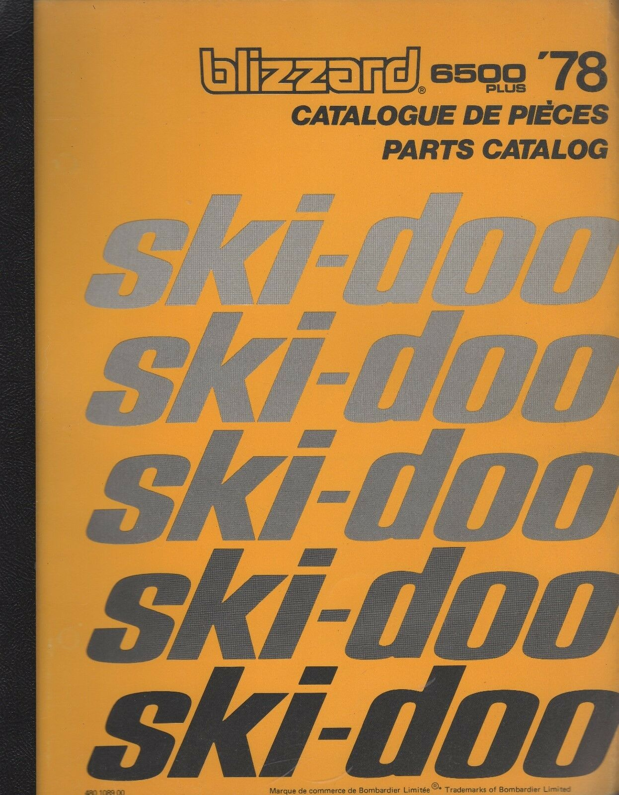 1978 SKI-DOO BLIZZARD 6500 PLUS SNOWMOBILE PARTS MANUAL 480 1089 00 (588)