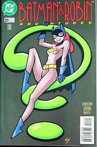 BATMAN-amp-ROBIN-ADVENTURES-21-VF-CLASSIC-BATGIRL-PIN-UP-COVER-THE-JOKER-DC-1997