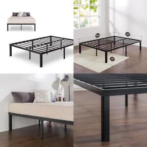 14 Metal Platform King Size Bed Frame Mattress Foundation No Box