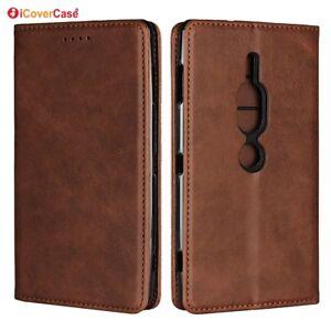 Pour-Sony-Xperia-XZ2-Luxe-Premium-magnetique-en-cuir-portefeuille-a-Rabat-Case-Cover