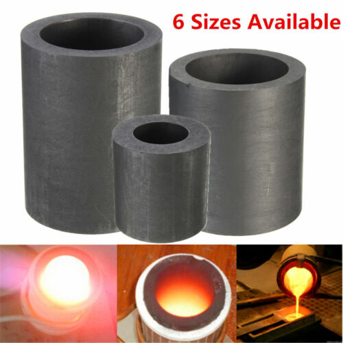 6 Size Pure Graphite Crucible Cup Propane Torch Melting Gold Silver Coppe UR