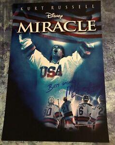 GFA 1980 Miracle on Ice Captain * MIKE ERUZIONE * Signed 12x18 Photo M9 COA