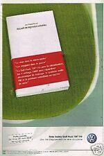 Publicité advertising 2000 VW Volkswagen Golf Pack TDI