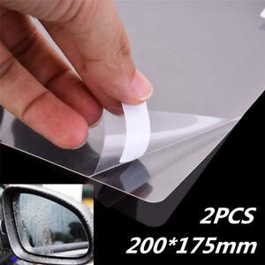 2x Hydrophobic Clear Car Glass Film Side View Mirror Anti Fog Scratch 20x17 5cm Ebay