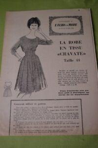 034-ECHO-DE-LA-MODE-034-PATRON-N-20-ROBE-EN-TISSU-034-CRAVATE-034-T-44