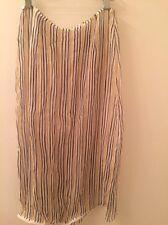 NWOT PRADA SILK yellow chiffon stripe skirt spring beach Small made in ITALY