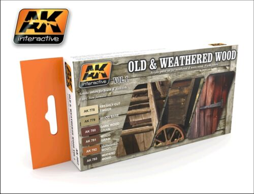 AK Interactive Old and Weathered Wood Vol 1