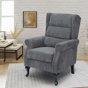 Corduroy Orthopedic Highback Chair Wing Back Chesterfield ...