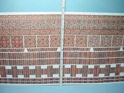 Miniature Bricks Sheet Antique Ornamental World Model #WM34980