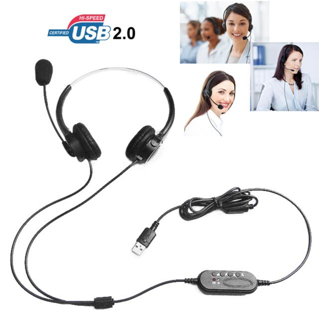 T601 Call Center Customer Service Headset Headphone Light Handsfree for Computer
