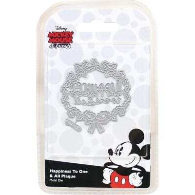 Happiness to All Wreath  Disney Metal Cutting Die  NIP