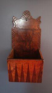 Antique-Beautiful-Patina-Walnut-Wood-Wall-Candle-Box