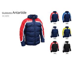 Giubbotto-invernale-bimbo-Givova-invernale-caldo-bambino-imbottito-neve-blu-nero
