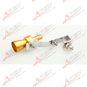 Universal Turbo Sound Exhaust Whistle//Fake Blow Off BOV Simulator Golden S B