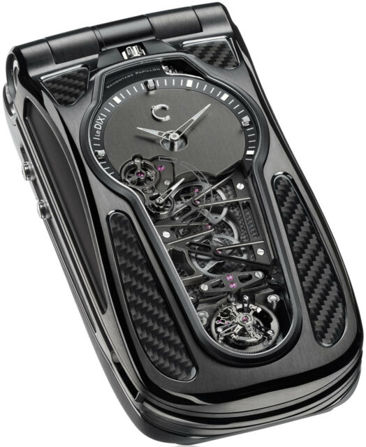 Celsius X VI II Papillon Tourbillon Mobile Phone 297.500€ Handy mit Uhr Limited