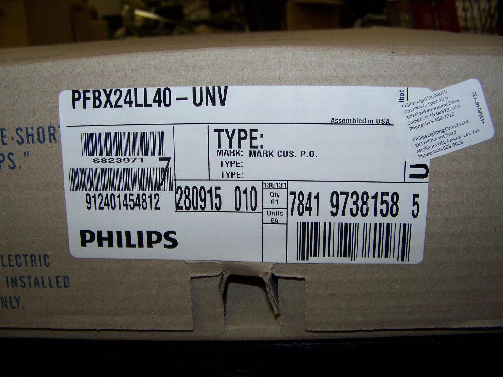Philips FBX LED Highbay Light 120-277 VAC 191 Max Watts 50 60 Hz PFBX24LL40-UNV