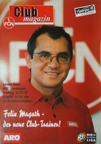 Programm 1997//98 1 KFC Uerdingen FC Nürnberg