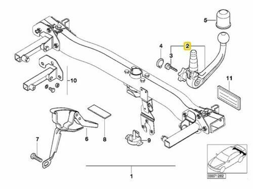 AutoHak enganche remolque para bmw 5er e34 refrescos combi extraíble 13pol eléctrico