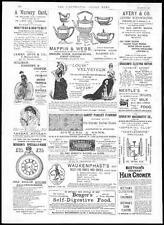 1884 Advertising - Samuel Brothers Clothing Mappin Webb Chocolat Menier (200)