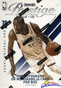 2014-15-Panini-Prestige-Basketball-Factory-Sealed-Blaster-Box-AUTOGRAPH-MEM