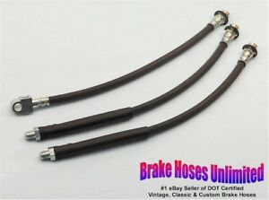 BRAKE-HOSE-SET-American-Motors-Gremlin-1973-1974-1975-1976-with-Bendix-Calipers