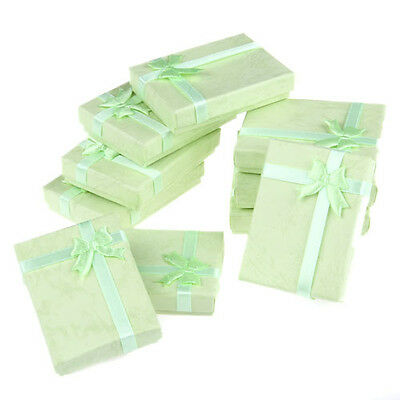 10X Green Jewelry Necklace Bracelet Watch Gift Boxes Case CHIC Lots 70x50x15mm