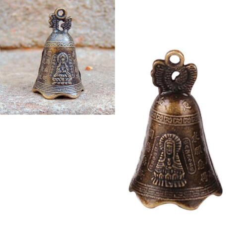 2019 China/'s Mini Brass Copper Sculpture Pray Buddha Feng shui bell 48*30mm O8R8