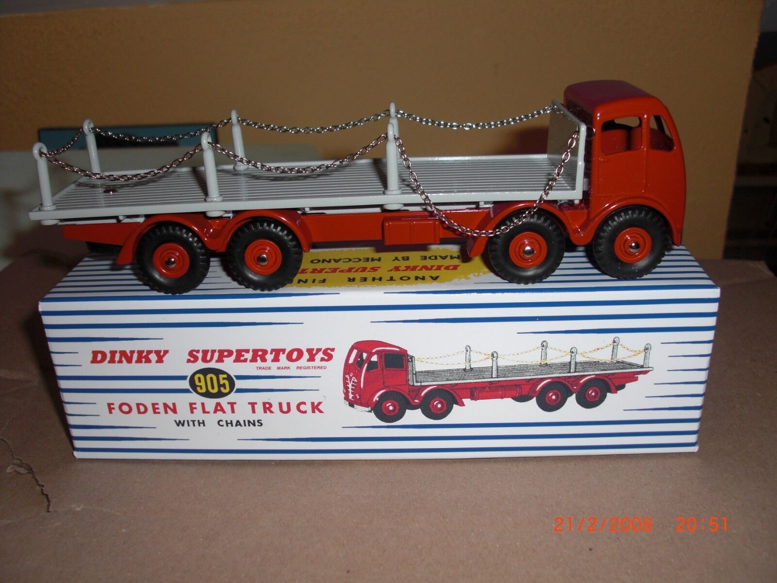 DINKY SUPERTOYS SUPERTOYS SUPERTOYS Atlas 905 FODEN Plateau avec Chaines 3b3dc5