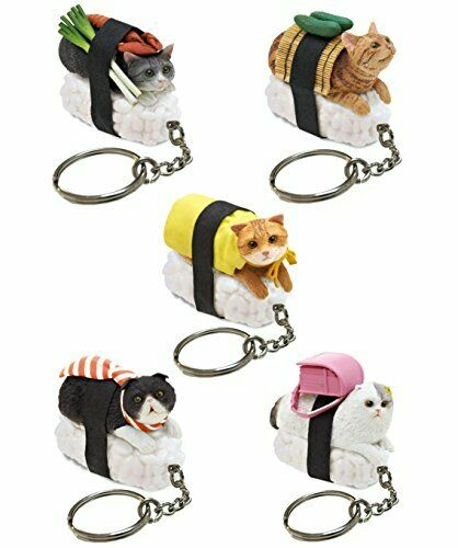 Clever Idiots Cafe du Meow Dessert Cat Keychain Blind Box Includes 1 of 8 C...