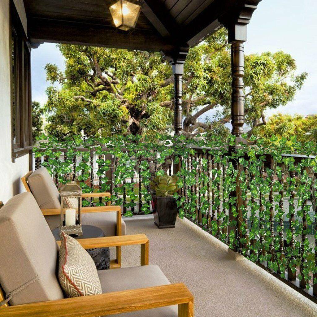 Image 9 - 12pcs-Artificial-Ivy-Leaf-Plants-Vine-Hanging-Garland-Fake-Flowers-Home-Decor
