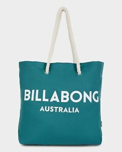 Details About Billabong New Las Essential Beach Bag Deep Jade Large Surf Logo
