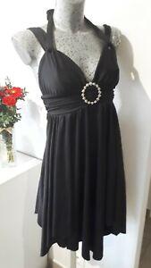 Robe sexy noire courte originale taille S 36 38 femme woman dress 6 8