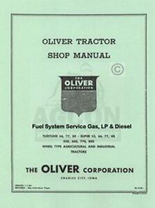 Oliver-Fleetline-66-77-88-SUPER-550-660-770-880-Fuel-System-Service-Manual