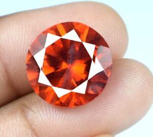 20.85 Ct Padparadscha Orange Sapphire Gemstone Round Natural Certified A34872