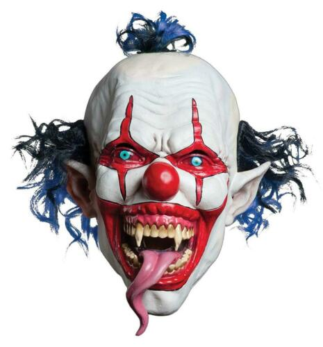 Morbid Enterprises Bearded Red Jester Mask One Size Red//White//Blue
