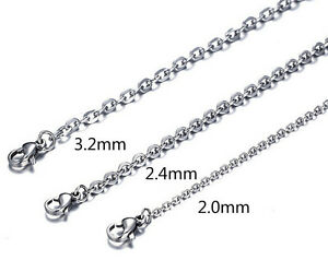 Lot 100pcs wholesale women's stainless steel silver Link Chain necklaces on sale