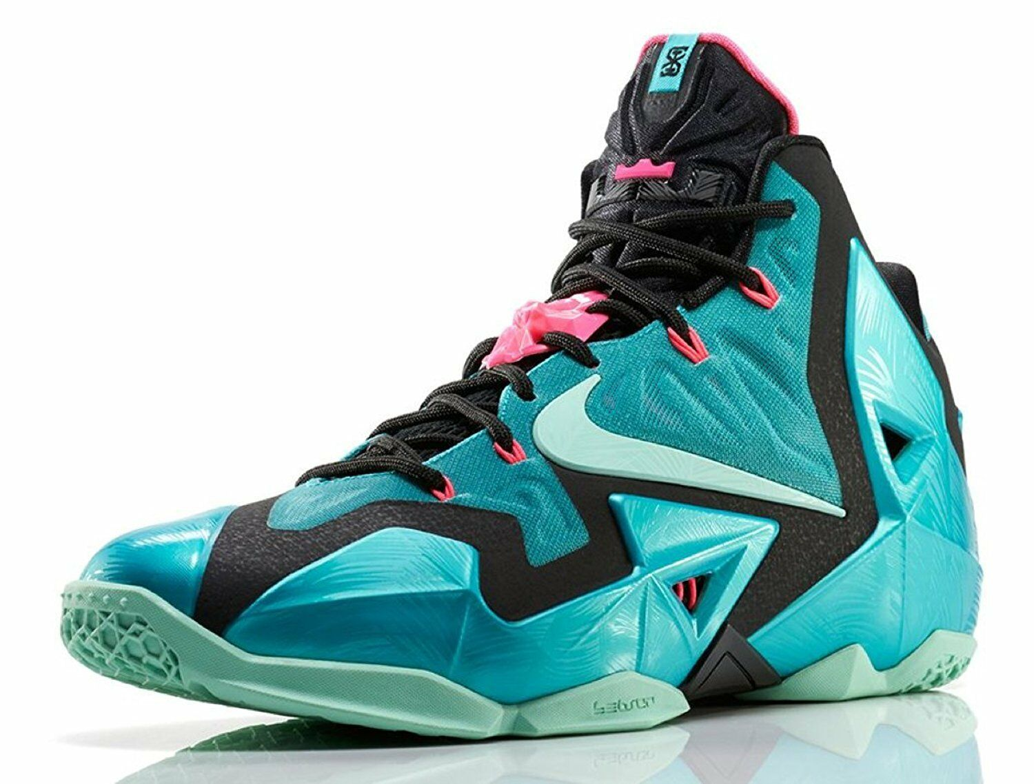 Nike LEBRON XI 11 SOUTH BEACH basketball shoe teal bluee green pink black NEW BOX