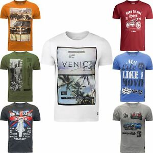 New-Mens-T-Shirt-Casual-River-Road-Printed-Crew-Neck-2018-Style-Summer-Tee-Top