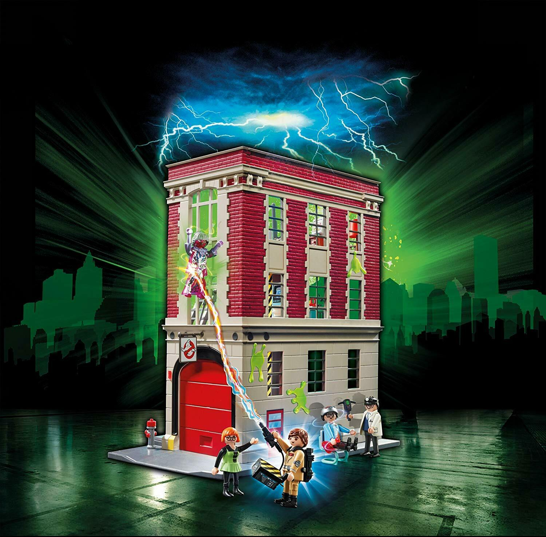 PLAYMOBIL 9219 Ghostbuster Feuerwache + Zuehör + Figuren ORIGINAL NEU & OVP
