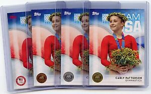 4 Card Lot 2016 Topps Olympic #65 Carly Patterson Base,Bronze,Silver,Gold!!!