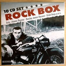 NEW 10 x CD - ROCK MUSIC BOX  Asia Sham 69 Uriah Heep Atomic Rooster Ian Gillan
