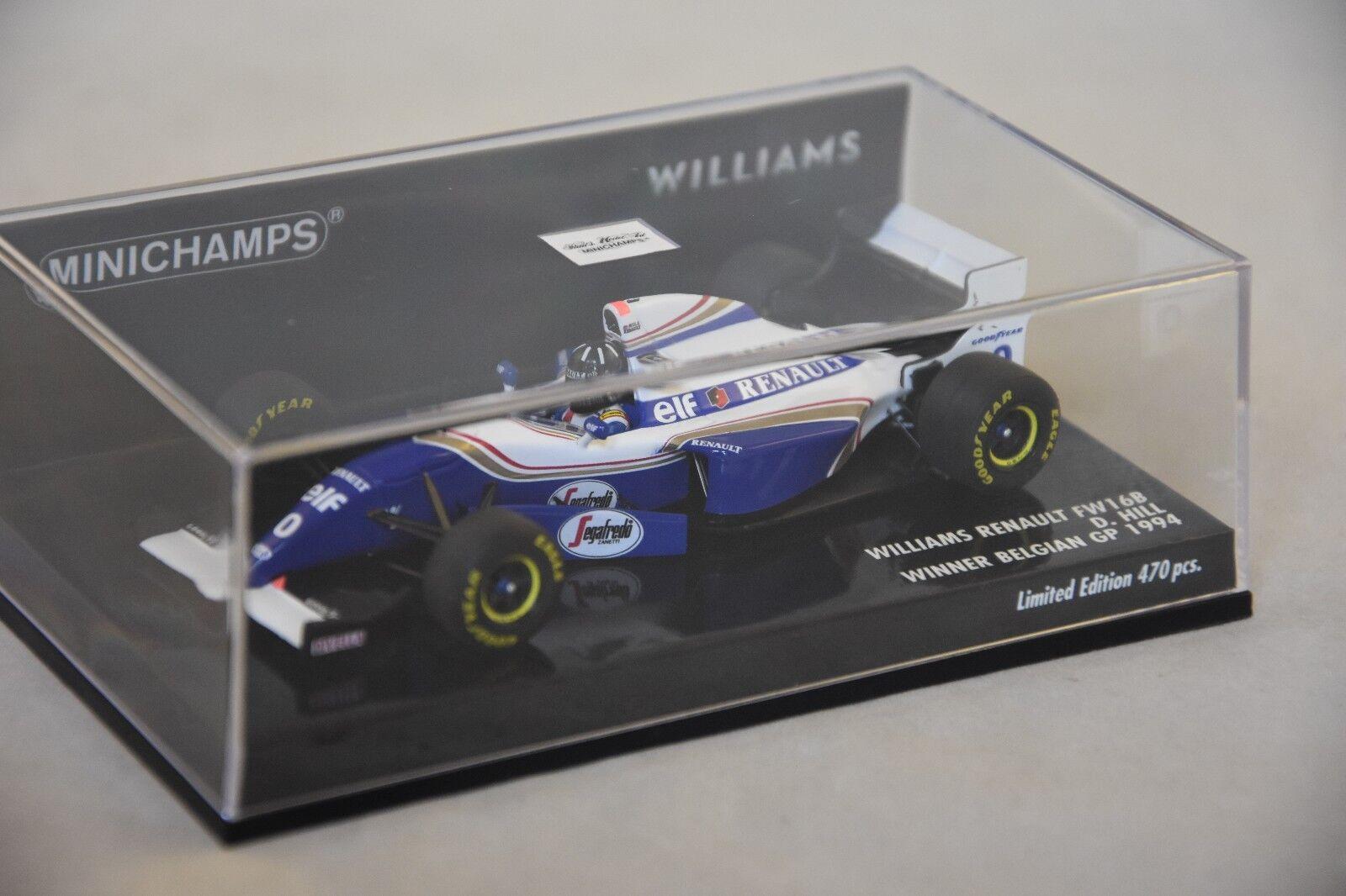 Minichamps 417940400 - WILLIAMS RENAULT FW16B   HILL – WINNER F1 GP SPA 1994 1 43  Réponses rapides
