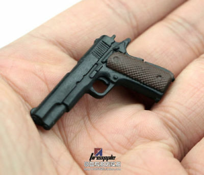 """1:6 Scale Weapon Toy Model Assembly Gun 4D Plastic Black For 12/"""" Figure Toy"""