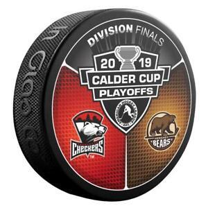 2019-AHL-Calder-Cup-Playoffs-Charlotte-Checkers-v-Hershey-Bears-Hockey-Puck